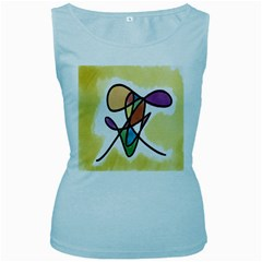 Art Abstract Exhibition Colours Women s Baby Blue Tank Top