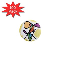 Art Abstract Exhibition Colours 1  Mini Magnets (100 Pack)