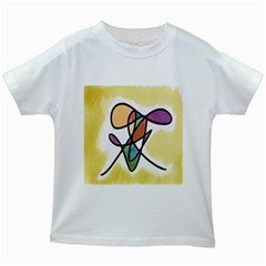Art Abstract Exhibition Colours Kids White T Shirts