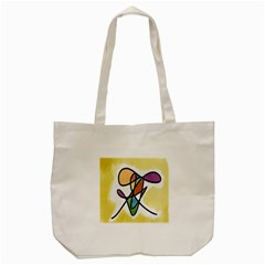 Art Abstract Exhibition Colours Tote Bag (cream)
