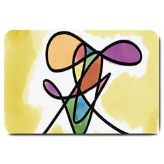 Art Abstract Exhibition Colours Large Doormat