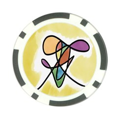 Art Abstract Exhibition Colours Poker Chip Card Guard