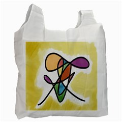 Art Abstract Exhibition Colours Recycle Bag (two Side)