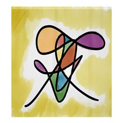 Art Abstract Exhibition Colours Shower Curtain 66  X 72  (large)