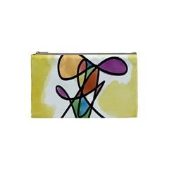 Art Abstract Exhibition Colours Cosmetic Bag (small)  by Nexatart