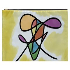 Art Abstract Exhibition Colours Cosmetic Bag (xxxl)