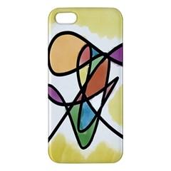 Art Abstract Exhibition Colours Apple Iphone 5 Premium Hardshell Case