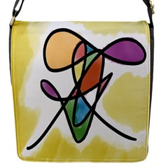 Art Abstract Exhibition Colours Flap Messenger Bag (s)