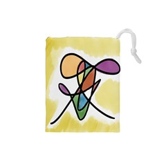 Art Abstract Exhibition Colours Drawstring Pouches (small)