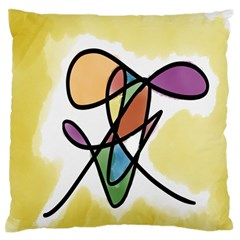 Art Abstract Exhibition Colours Large Flano Cushion Case (two Sides)