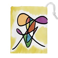 Art Abstract Exhibition Colours Drawstring Pouches (xxl)