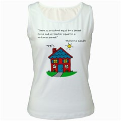 No School Greater... Women s White Tank Top by athenastemple