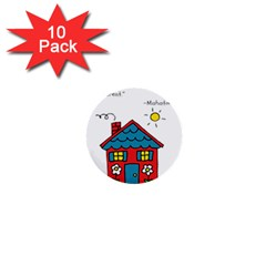 No School Greater    1  Mini Buttons (10 Pack)  by athenastemple