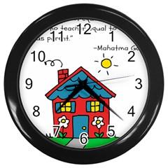 No School Greater    Wall Clocks (black) by athenastemple
