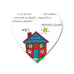 No School Greater    Heart Magnet by athenastemple