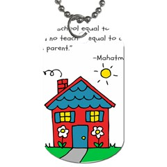 No School Greater    Dog Tag (one Side) by athenastemple