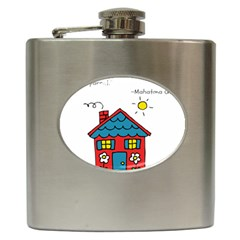 No School Greater    Hip Flask (6 Oz) by athenastemple