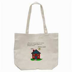 No School Greater    Tote Bag (cream) by athenastemple