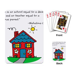 No School Greater    Playing Card by athenastemple