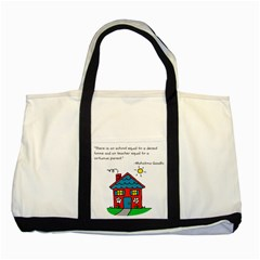 No School Greater    Two Tone Tote Bag by athenastemple