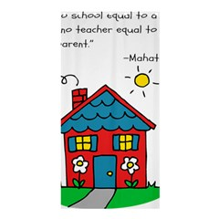 No School Greater    Shower Curtain 36  X 72  (stall)  by athenastemple