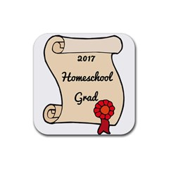 2017 Homeschool Grad! Rubber Square Coaster (4 Pack)  by athenastemple