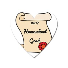 2017 Homeschool Grad! Heart Magnet by athenastemple