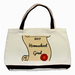 2017 Homeschool Grad! Basic Tote Bag by athenastemple