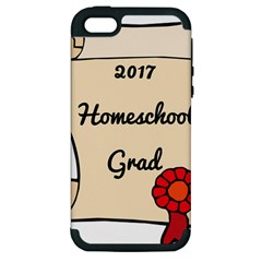 2017 Homeschool Grad! Apple Iphone 5 Hardshell Case (pc+silicone) by athenastemple