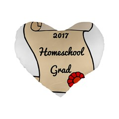2017 Homeschool Grad! Standard 16  Premium Flano Heart Shape Cushions by athenastemple