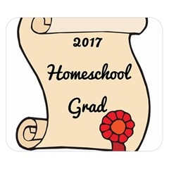 2017 Homeschool Grad! Double Sided Flano Blanket (small)  by athenastemple