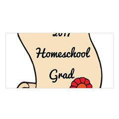 2017 Homeschool Grad! Satin Shawl by athenastemple