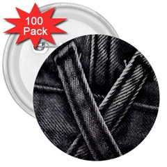 Backdrop Belt Black Casual Closeup 3  Buttons (100 Pack)