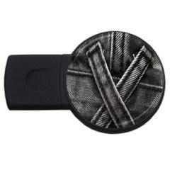 Backdrop Belt Black Casual Closeup Usb Flash Drive Round (2 Gb)
