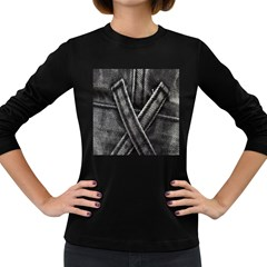 Backdrop Belt Black Casual Closeup Women s Long Sleeve Dark T Shirts by Nexatart