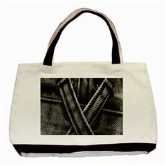 Backdrop Belt Black Casual Closeup Basic Tote Bag