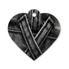 Backdrop Belt Black Casual Closeup Dog Tag Heart (one Side) by Nexatart