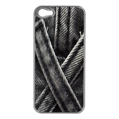 Backdrop Belt Black Casual Closeup Apple Iphone 5 Case (silver) by Nexatart