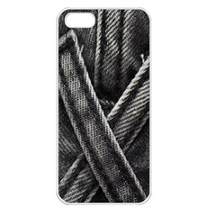 Backdrop Belt Black Casual Closeup Apple Iphone 5 Seamless Case (white) by Nexatart