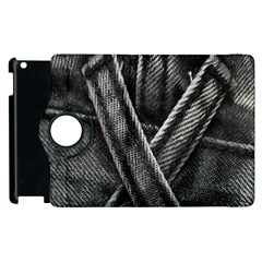Backdrop Belt Black Casual Closeup Apple Ipad 3/4 Flip 360 Case by Nexatart