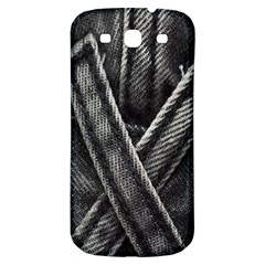 Backdrop Belt Black Casual Closeup Samsung Galaxy S3 S Iii Classic Hardshell Back Case by Nexatart