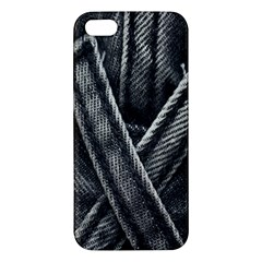 Backdrop Belt Black Casual Closeup Apple Iphone 5 Premium Hardshell Case by Nexatart