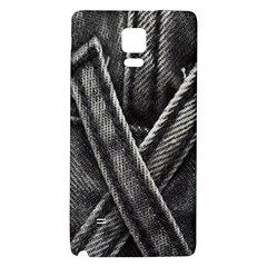 Backdrop Belt Black Casual Closeup Galaxy Note 4 Back Case by Nexatart