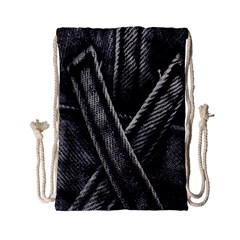Backdrop Belt Black Casual Closeup Drawstring Bag (small) by Nexatart