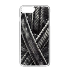 Backdrop Belt Black Casual Closeup Apple Iphone 7 Plus White Seamless Case by Nexatart