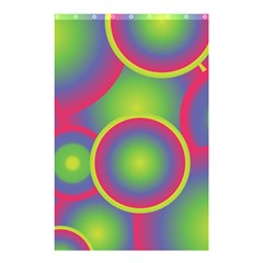 Background Colourful Circles Shower Curtain 48  X 72  (small)