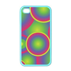 Background Colourful Circles Apple Iphone 4 Case (color)