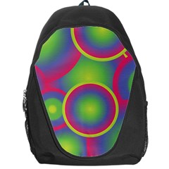 Background Colourful Circles Backpack Bag