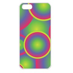 Background Colourful Circles Apple Iphone 5 Seamless Case (white) by Nexatart