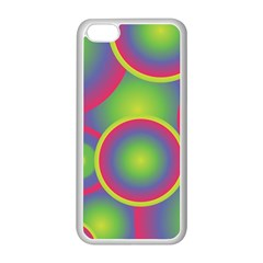 Background Colourful Circles Apple Iphone 5c Seamless Case (white) by Nexatart